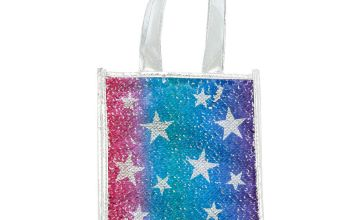 Go to Product: Reversible Sequin Star Tote Gift Bag - Silver