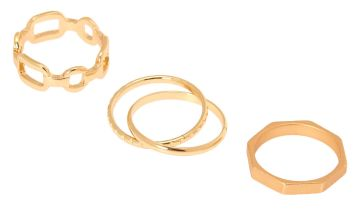 Go to Product: Gold Geometric Chain Rings - 4 Pack