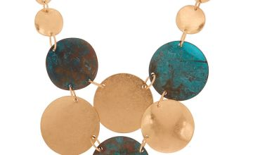 Go to Product: Gold Patina Disk Statement Necklace