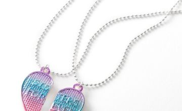 Go to Product: Best Friends Blue & Pink Waffle Heart Pendant Necklaces - 2 Pack