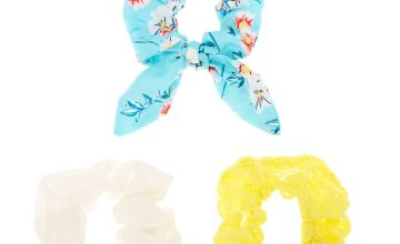 Go to Product: Small Mint & Yellow Floral Lace Hair Scrunchies - 3 Pack