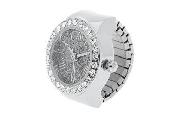 Go to Product: Silver Glitter Ring Watch