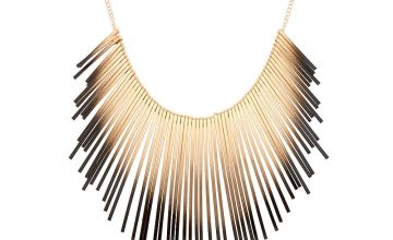 Go to Product: Gold Ombre Bar Statement Necklace - Black