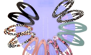Go to Product: Solid Animal Print Oval Snap Hair Clips - 12 Pack