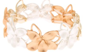 Go to Product: Mixed Metal Flower Stretch Bracelet