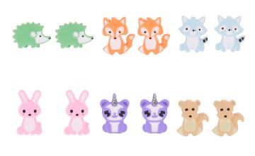 Go to Product: Pastel Animal Stud Earrings - 6 Pack