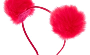 Go to Product: Bright Pom Headband - Pink