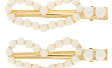 Go to Product: Gold Pearl Heart Hair Clips - 2 Pack