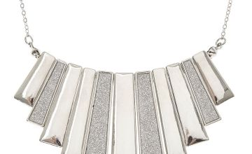 Go to Product: Silver Glitter Bar Fringe Necklace