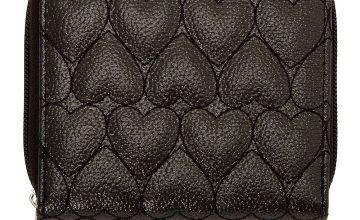Go to Product: Quilted Heart Mini Zip Wallet - Black