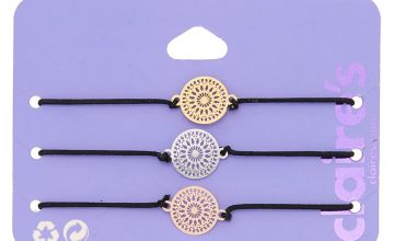 Go to Product: Mixed Metal Filigree Disc Stretch Bracelets - 3 Pack
