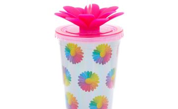 Go to Product: Rainbow Daisy Tumbler - Silver