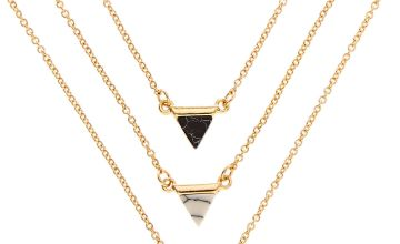 Go to Product: 3 Pack Gold Tone Marble Triangle Necklaces