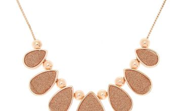 Go to Product: Rose Gold Tear Drop Glitter Statement Necklace