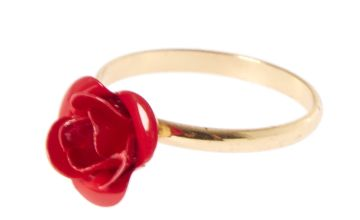 Go to Product: Red Carved Rose Ring