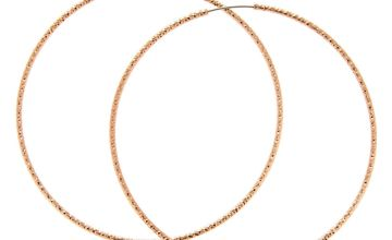Go to Product: Rose Gold 60MM Textured Hoop Earrings