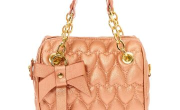Go to Product: Quilted Hearts Satchel Crossbody Bag - Rose Gold