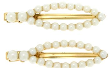 Go to Product: Gold Oval Pearl Hair Clips - Ivory, 2 Pack