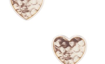 Go to Product: Silver Snake Print Heart Stud Earrings