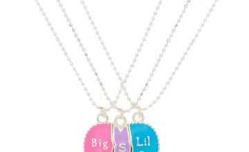 Go to Product: Sisters Pastel Heart Pendant Necklaces - 3 Pack