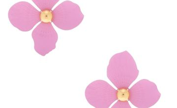 "Go to Product: Gold 2"" Flower Drop Earrings - Lavender"