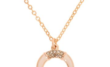 Go to Product: Gold Horn Pendant Necklace - White