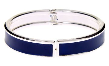 Go to Product: Silver Hinge Cuff Bracelet - Navy