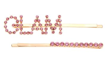 Go to Product: Rose Gold Glam Crystal Hair Pins - Pink, 2 Pack