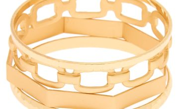 Go to Product: Gold Chain Bangle Bracelets - 4 Pack