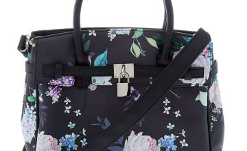Go to Product: Floral Satchel Crossbody Bag - Black