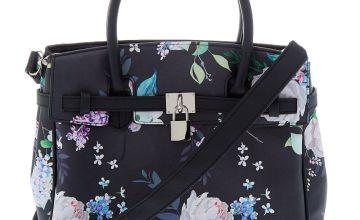 Go to Product: Floral Satchel Crossbody Bag - Black