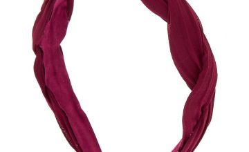 Go to Product: Chiffon Twisted Headband - Burgundy