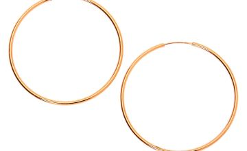 Go to Product: 18kt Rose Gold Plated 30MM Sleek Hoop Earrings