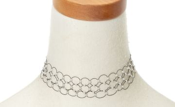 Go to Product: Pearl Three Row Tattoo Choker Necklace - Black