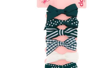 Go to Product: Claire's Club Hair Bow Clips - Green, 6 Pack