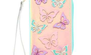 Go to Product: Holographic Butterfly Wristlet - Turquoise