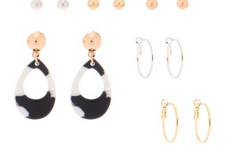Go to Product: Mixed Metal Earrings - 6 Pack
