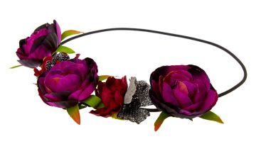 Go to Product: Dark Flower Crown Headwrap - Purple