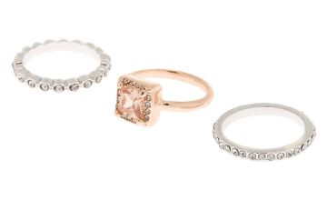 Go to Product: Mixed Metal Cubic Zirconia Rings - 3 Pack