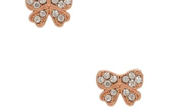 Go to Product: 18kt Rose Gold Plated Bow Stud Earrings