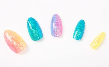 Go to Product: Rainbow Glitter Stiletto Press On Faux Nail Set - 24 Pack