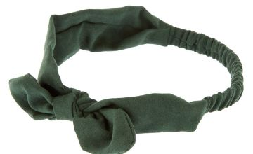 Go to Product: Suede Knotted Bow Headwrap - Hunter Green