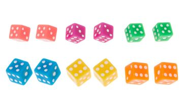 Go to Product: Neon Dice Stud Earrings - 6 Pack
