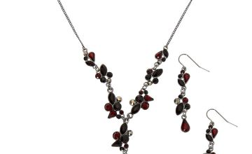 Go to Product: Hematite Y-Neck Jewellery Set - Red, 2 Pack