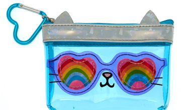Go to Product: Cam the Cat Rainbow Zipper Purse - Blue