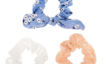 Go to Product: Small Pastel Floral Lace Knotted Bow Hair Scrunchies - 3 Pack