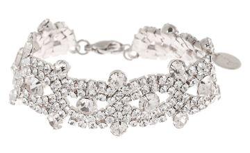 Go to Product: Silver Rhinestone Infinity Chain Bracelet