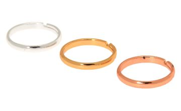 Go to Product: Mixed Metal Classic Band Toe Ring Set - 3 Pack