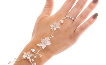 Go to Product: Silver Frosted Flower Hand Chain - White
