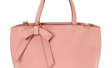 Go to Product: Bow Accent Satchel Crossbody Bag - Pink